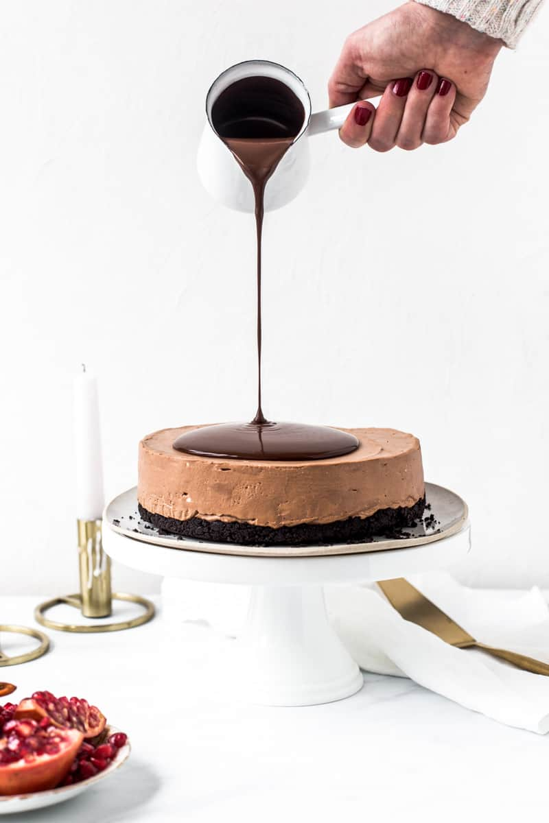 Emma Duckworth Triple Chocolate Cheesecake Pour Shot