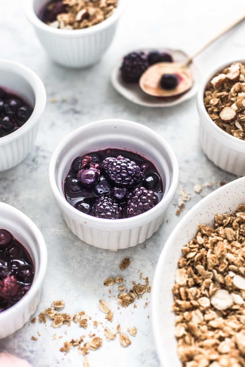 Blueberry Crumble Pots by Emma Duckworth Bakes
