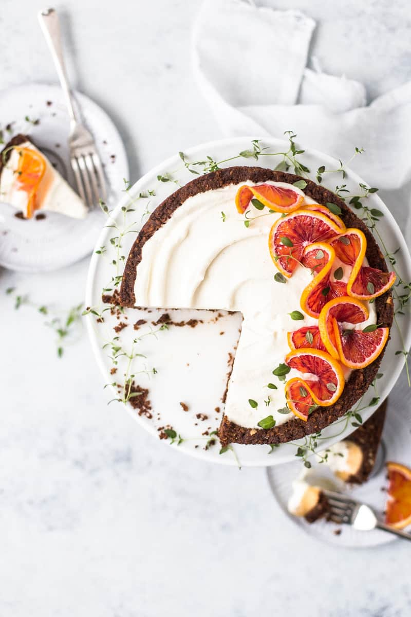 Mascarpone Chocolate Tart with Blood Orange Curd by Emma Duckworth Bakes