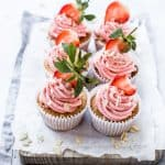 Almond Cupcakes with Strawberry Buttercream by Emma Duckworth Bakes