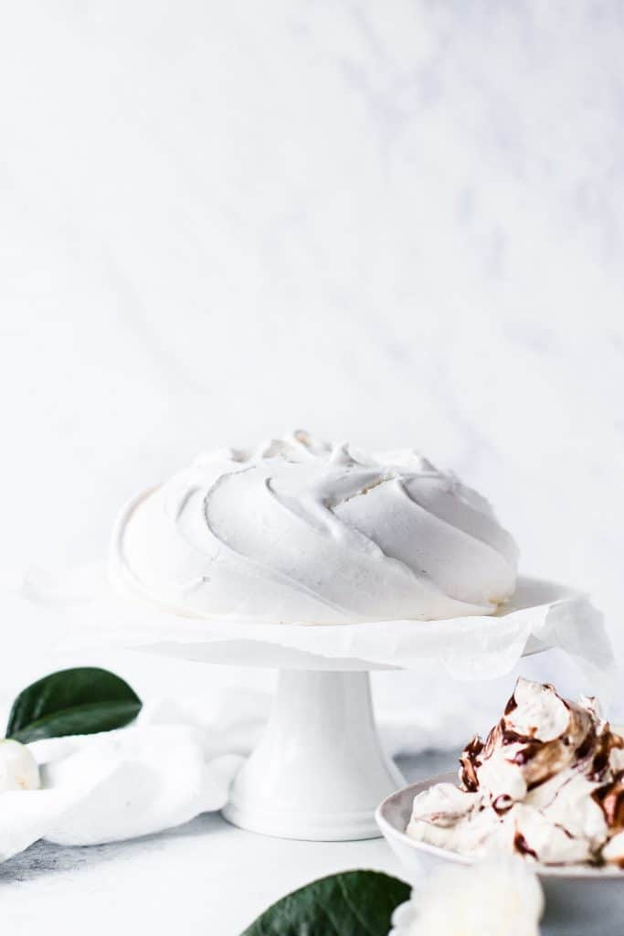 Meringue on a cake plate