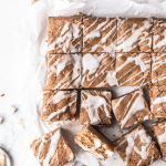 Slab of browned butter blondie cut into squares