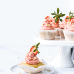 Strawberry Almond Cupcakes by Emma Duckworth Bakes