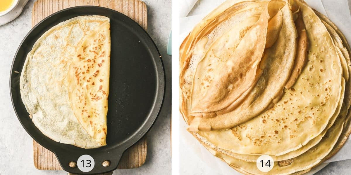 Process of making french crepes
