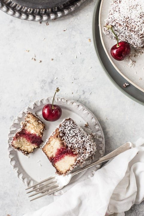 Lamingtons being eaten