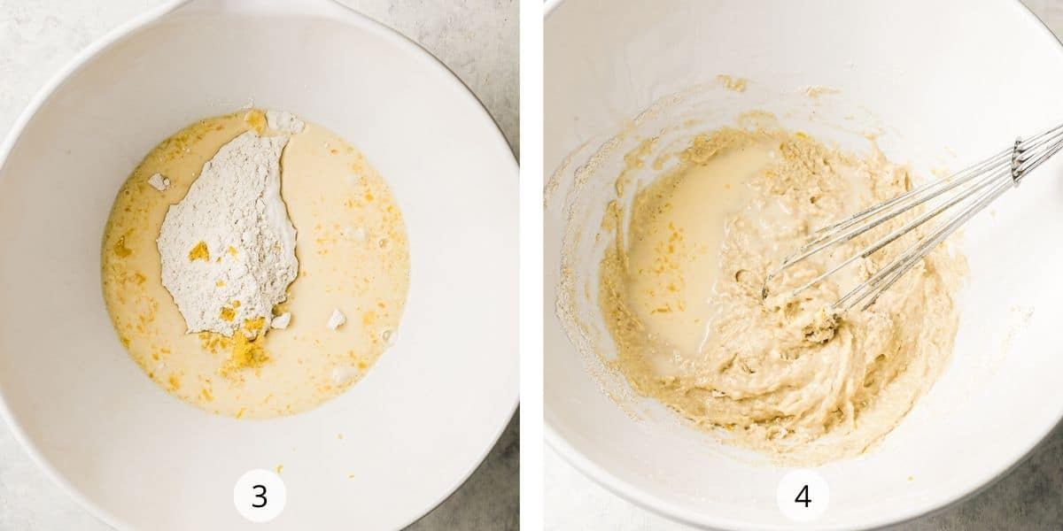 Processs of making the batter for french crepe