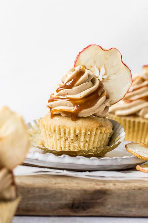 Apple Cider Caramel Cupcake closeup