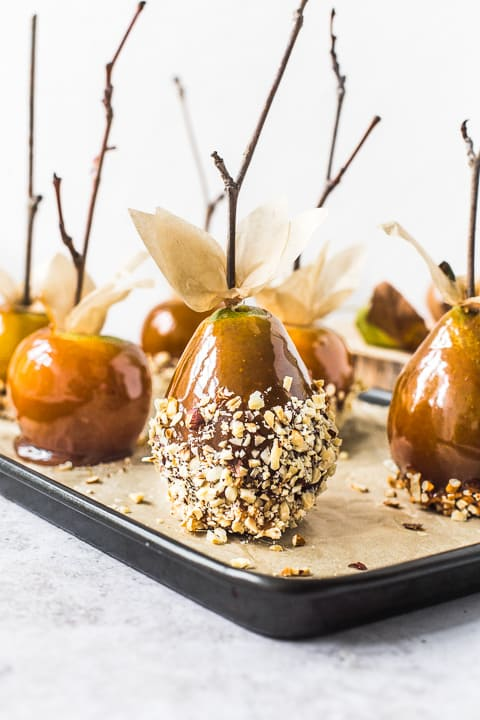 Dipped Apples in toffee