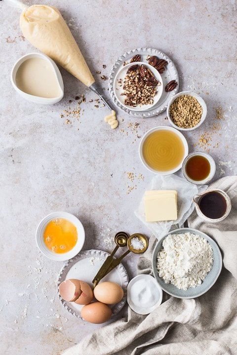 Ingredients to be made into pastries