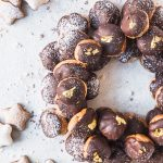 Mocha Profiteroles Wreath
