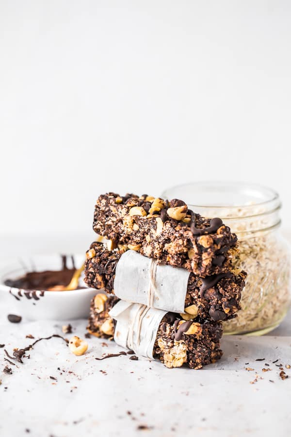 Chocolate Hazelnut Granola Bars