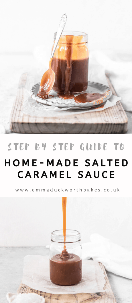 Pinterest Graphic for caramel sauce
