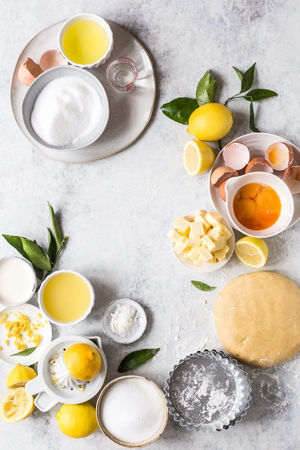Ingredients for Lemon Meringue Tarts
