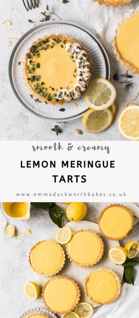 Pinterest Graphic of Lemon Meringue Tart