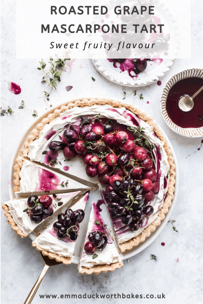 Roasted Grape Mascarpone Tart Pinterest Graphic