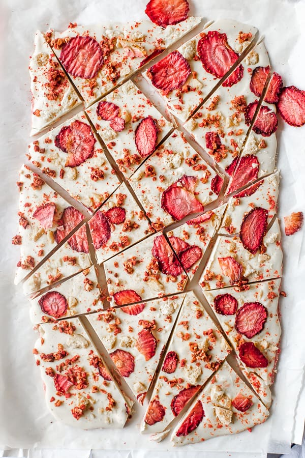 Strawberry Shortcake Chocolate Bark
