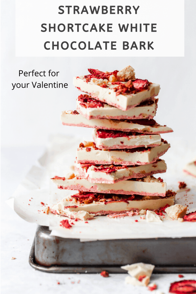 Strawberry Shortcake Chocolate Bark Pinterest Graphic