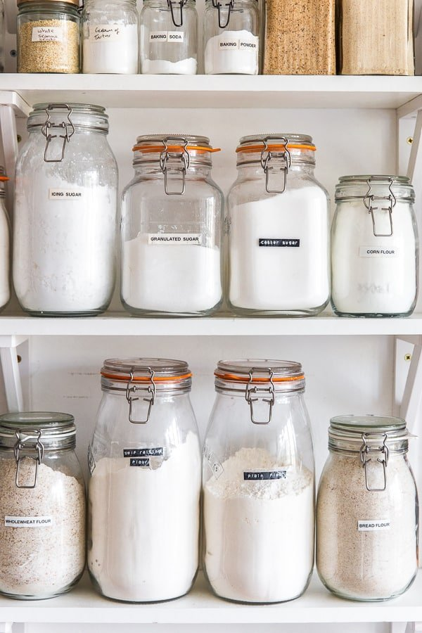 Organised Baking Pantry