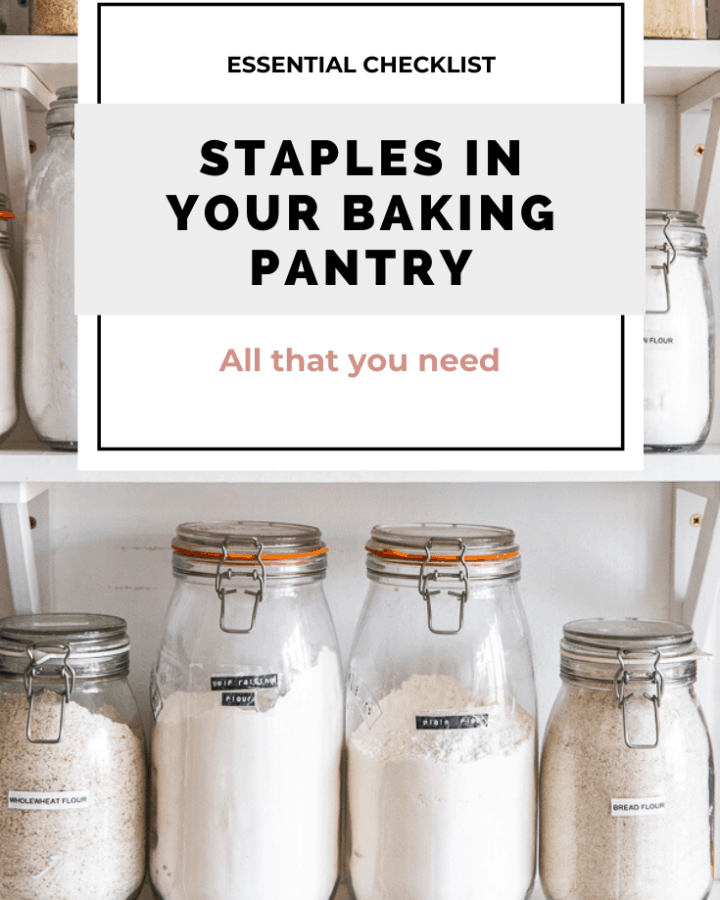 Staples in your baking pantry