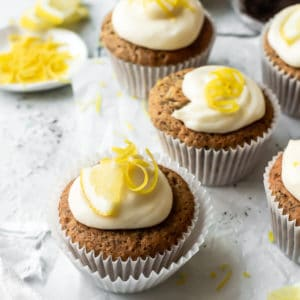 Earl Grey Cupcakes with Lemon Frosting