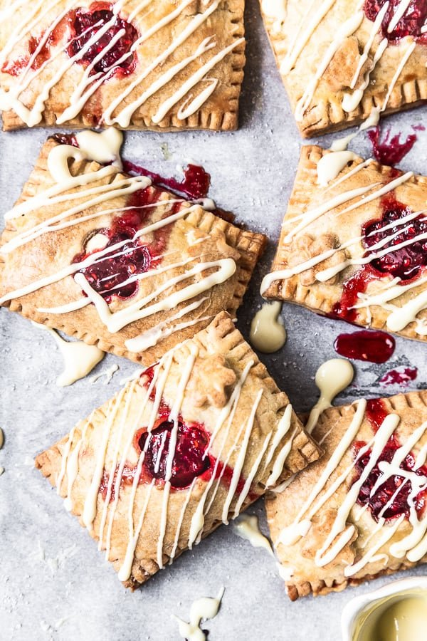 Raspberry White Chocolate Pop Tarts