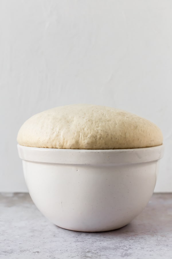 Dough after it's first rise