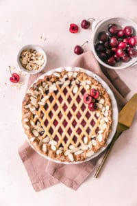 Cherry Almond Lattice Pie