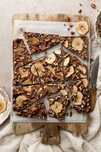 Apple Cider Chocolate Pecan Toffee