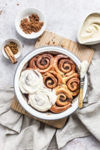 Cinnamon Rolls With Brown Butter Icing