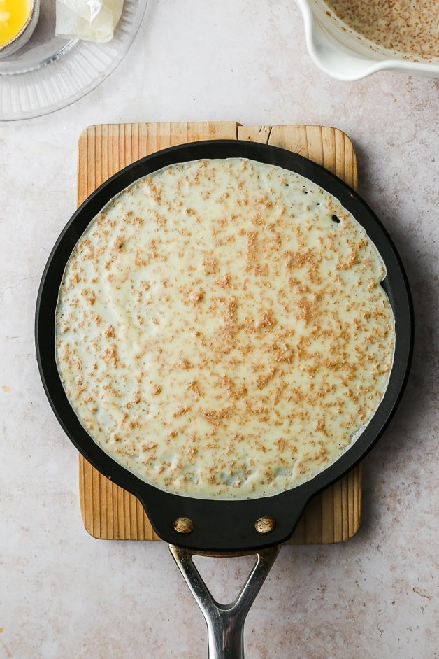 Cooking whole wheat crepes