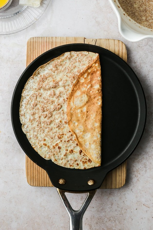 Making easy Whole Wheat crepes recipe