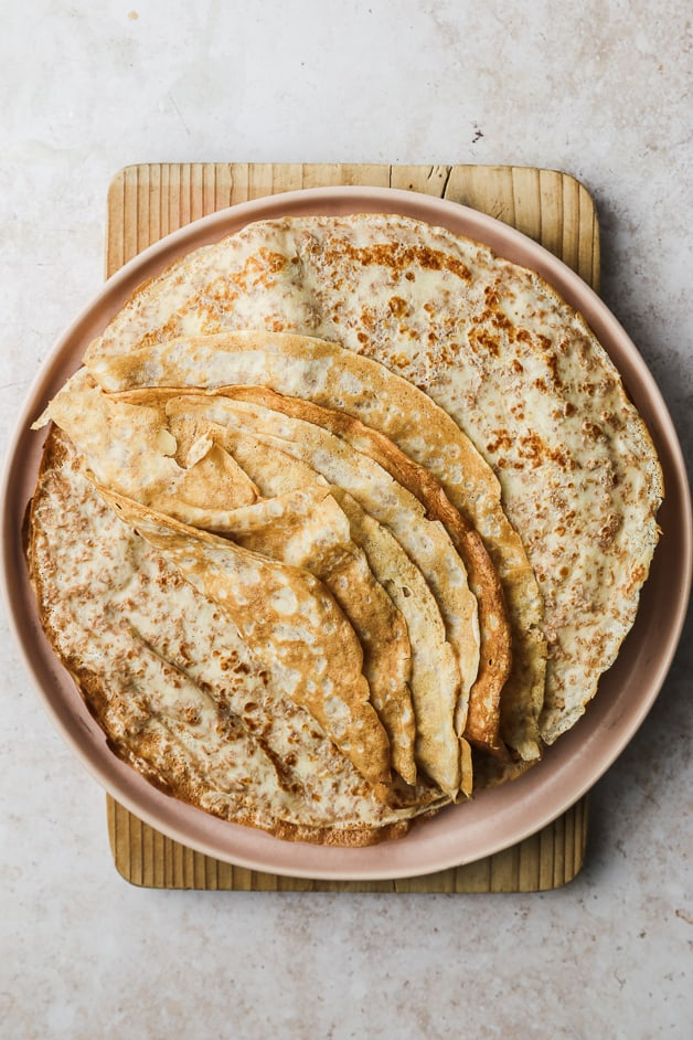 Pile of Whole Wheat Crêpes