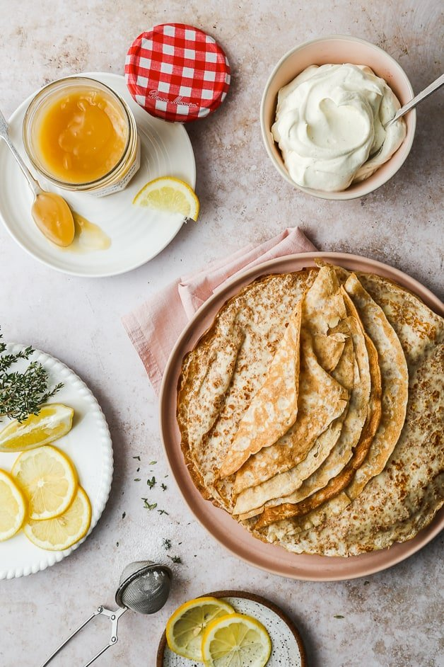 Whole Wheat Crêpes with various topping