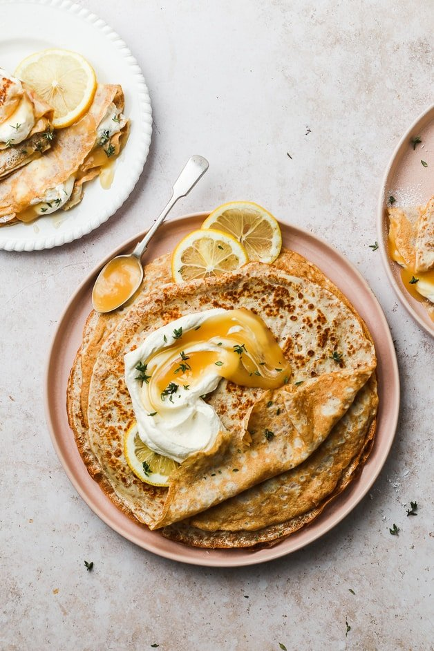 Whole Wheat Crêpes with Lemon Curd