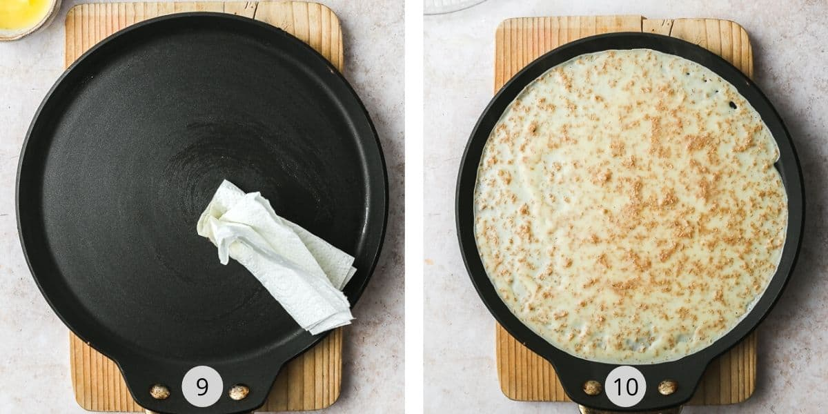 Making french crepes