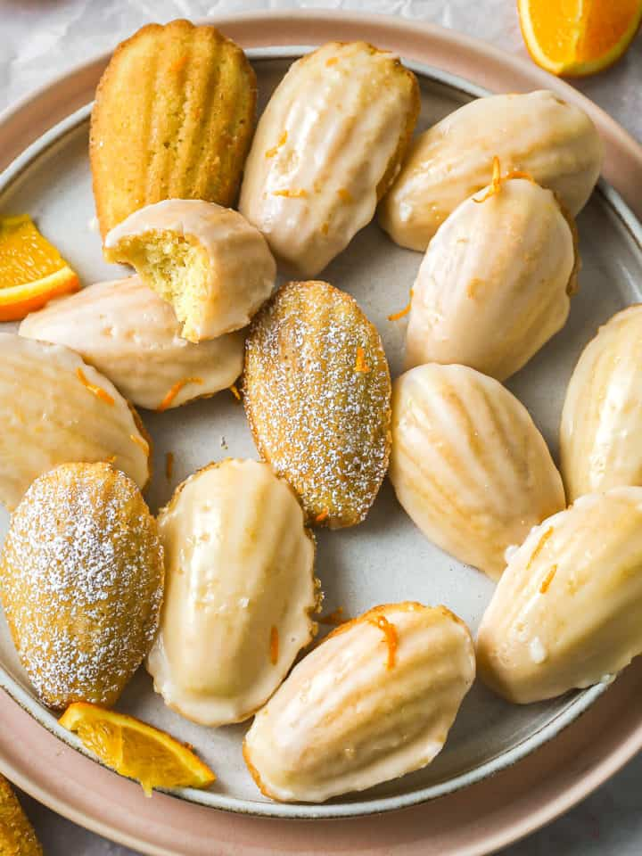 Classic madeleines flavoured with orange