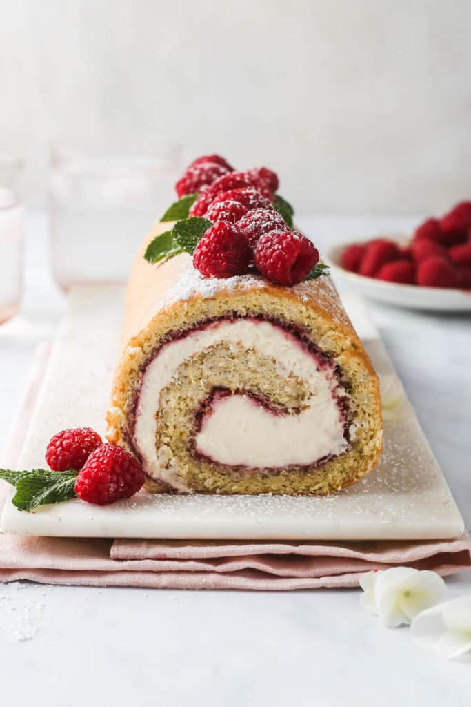 Front on perspective of a sliced swiss roll